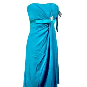 🛍 3 for $35! Teal Bridesmaid Formal Dress 12 NWT